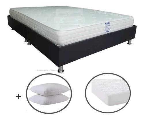 colchón 140x190+ basecama+protector+ almohadas +envío bogotá