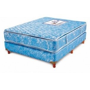 colchon 190x180 resortes australis con pillow doble