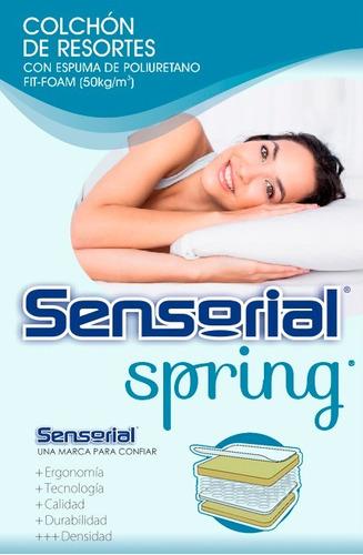 colchon 2 plazas 140x190 sensorial spring resortes y espuma de alta densidad envio gratis caba