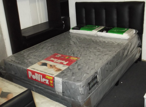 colchón 2 plazas alta densidad 140x190x24 para 100 kg d 30