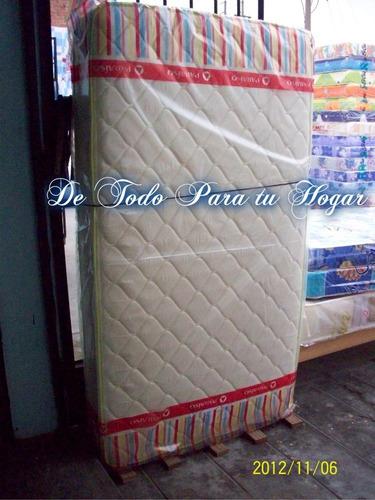 colchon 2 plazas paraiso + tarima + 02 almohdas + envio grat