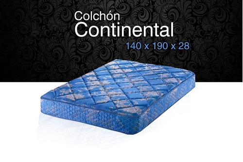 colchon 2 plazas piero continental 1.40 x 1.90 x 28