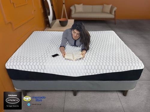 colchón américa con box king size epic memory gel buen fin