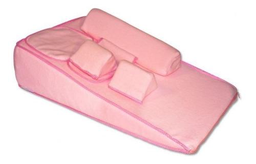colchón antireflujo y cojín para lactancia-rosas
