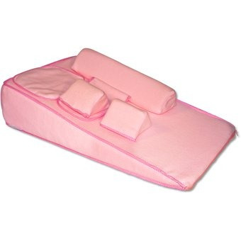 colchón antireflujo y cojines de seguridad m&m ca1-rosado
