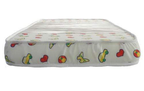 colchón arcoiris babyfloat® infantil 140x80x12 jmc