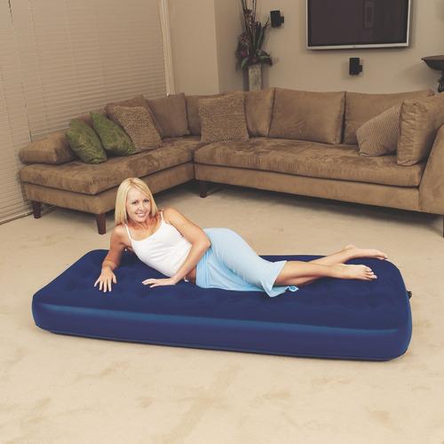 colchón aterciopelado azul 1 plaza bestway, 67000