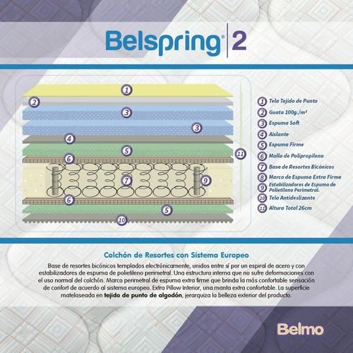 colchón belmo belspring 2 1 plaza 190x100