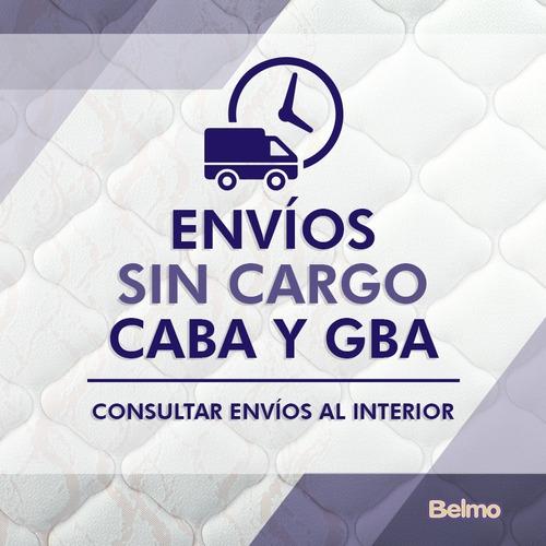 colchón belmo density 2 2 plazas queen 190x160