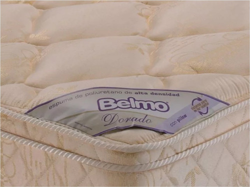 colchon belmo dorado pillow 1 plaza 1/2 90x190x26 - 33 kg/m3