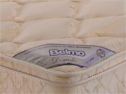 colchon belmo dorado pillow king size 180x200x26 - 33 kg/m3