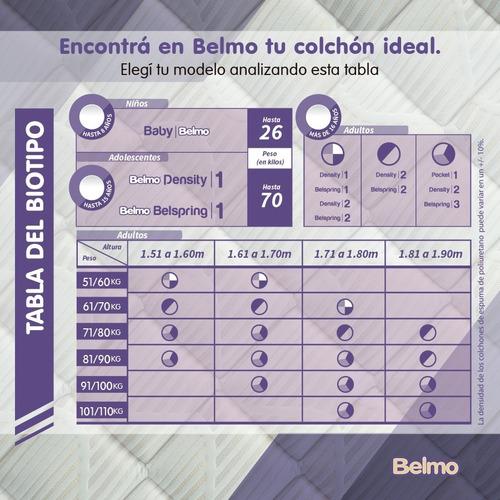 colchón belmo pocket 1 1 plaza 200x100