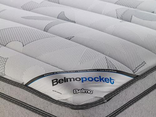 colchon belmo pocket resortes queen size 160x200x30