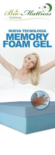 colchon bio mattress cool-gel memory foam gel king size