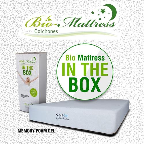 colchon bio mattress cool-gel memory foam  gel  matrimonial