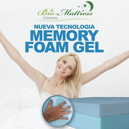 colchon bio mattress cool-gel memory foam  gel  queen size