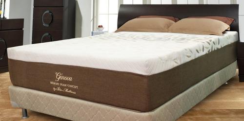 colchon bio mattress genova memory foam matrimonial con box