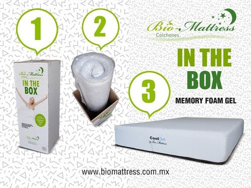 colchon bio mattress  individual cool-gel memory foam  gel