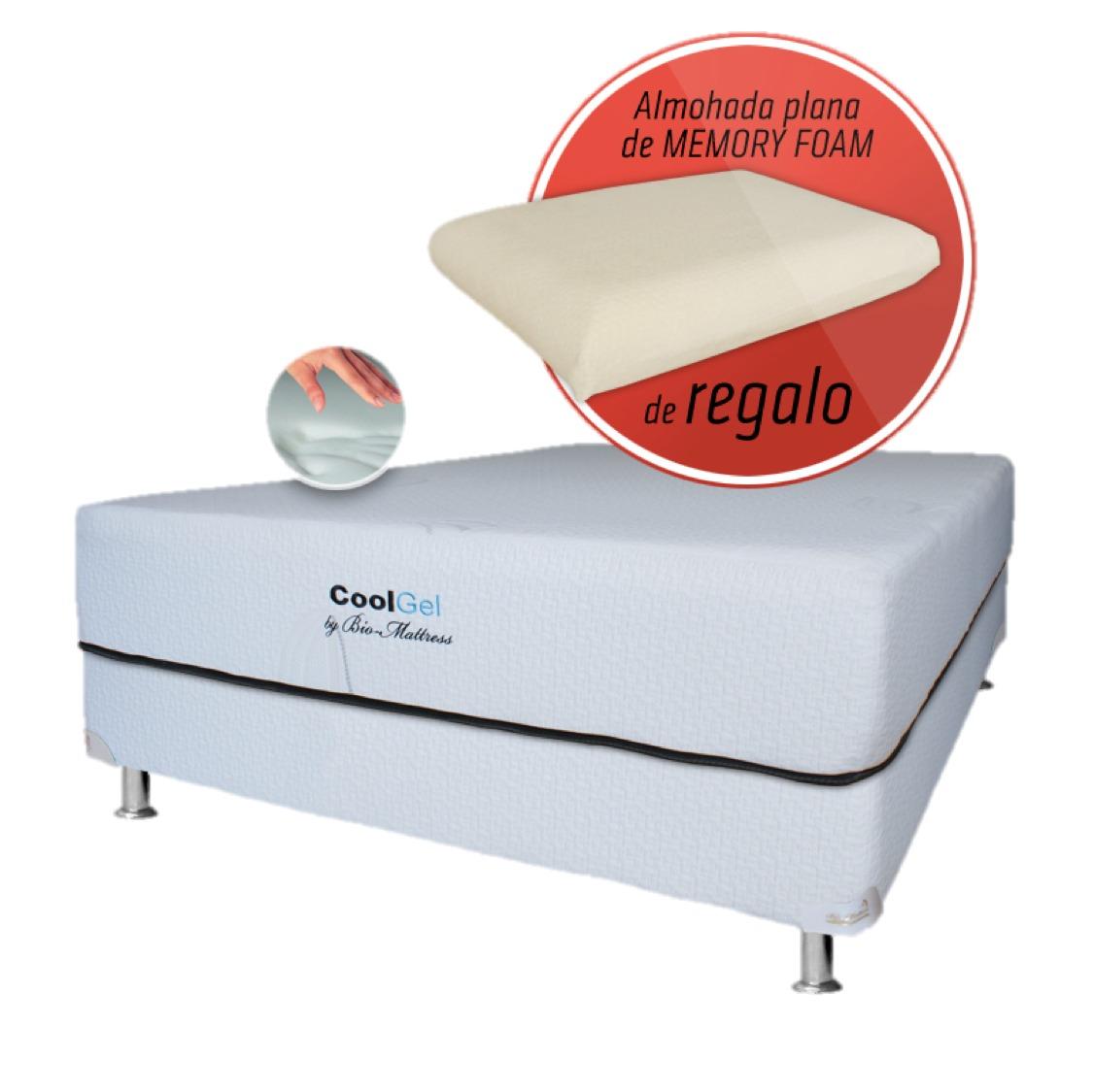 Colchon bio mattress cool gel memory foam gel king size for Colchones king size baratos