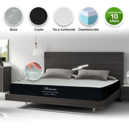 colchon bio mattress king size platinum memory foam firme