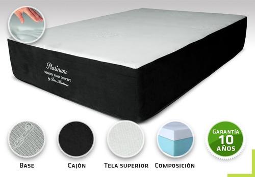 colchon bio mattress platinum memory foam queen size c/box