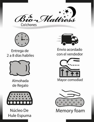colchón bio mattress queen size sensation gel