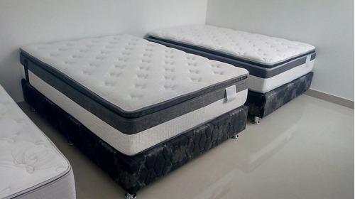 colchon + box tarima 2plazas + almohada de regalo