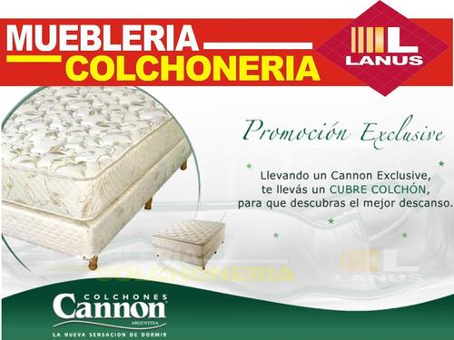 colchon cannon exclusive doble pillow 140x190 envios gratis