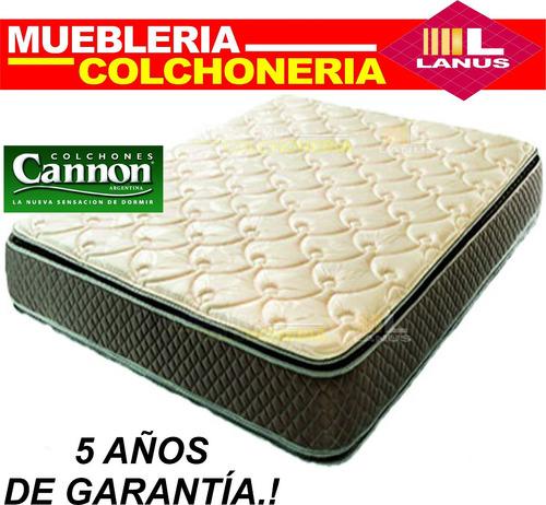 colchon cannon exclusive doble pillow 140x190 envios stock