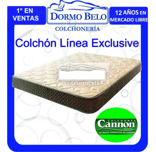 colchón cannon exclusive doble pillow 2,00 x 2,00 mt