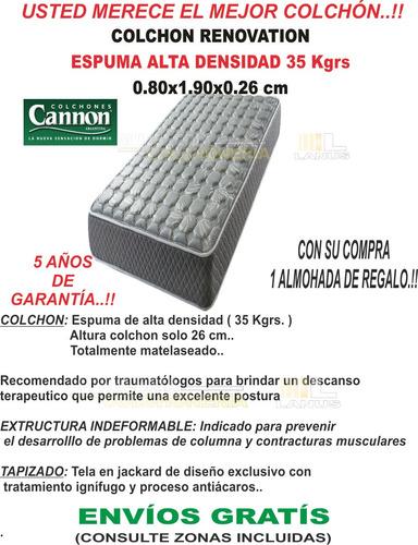 colchon cannon renovation 190x80x26 densidad 35 kgr.el mejor