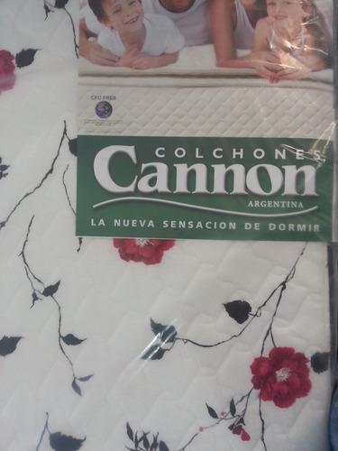 colchón cannon soñar 1,40x1,90x23 c/resortes. c/envío