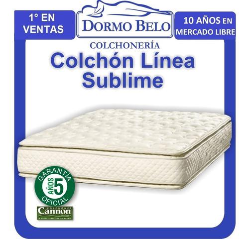 colchón cannon sublime doble pillow 1,60 x 2,00mt res poquet