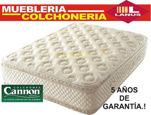 colchón cannon sublime pillow top 180x200x33cm envio gratis!