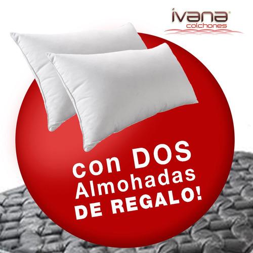 colchon cannon superoferta doral pillow top 140x190x33+envio