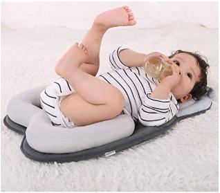 colchón con almohada para bebe de lujo
