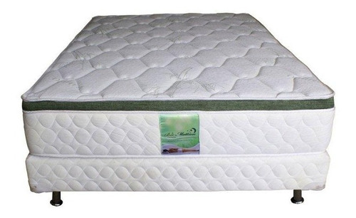 colchon con box de memory foam y resortes king size bamboo