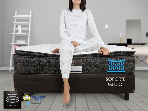 colchón con box king size américa clio ortopédico