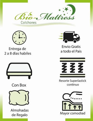 colchon con box matrimonial ortopedico bio mattress supreme