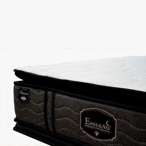 colchón confort top gold dark 1.60 x 1.90 + 2 almohadas pent