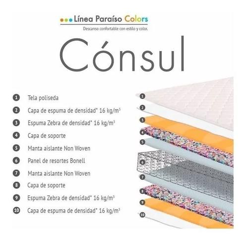 colchón consul plus 2 plazas | paraíso | ortopédico