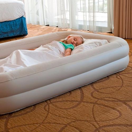 colchón cuna inflable de viaje para niños intex con inflador