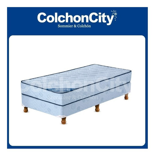 colchon de 1 plaza 190 x 080 x 22 alta densidad + almohada