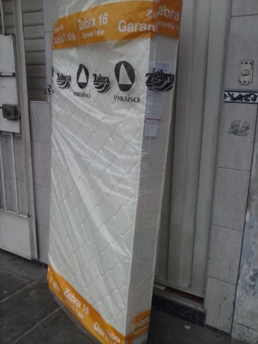 colchón de espuma zebra 1 plaza 1.85 x 0.85 ( nuevo )
