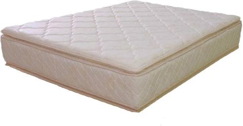 colchón de resortes  jacquard 140x190 doble pillow