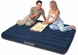 colchón doble intex con bomba o inflador