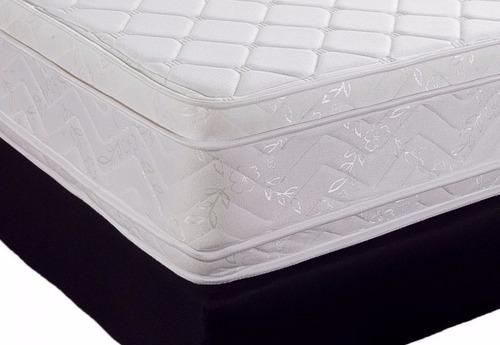 colchón  doble pillow top+regalo base cama 1.00x1.90