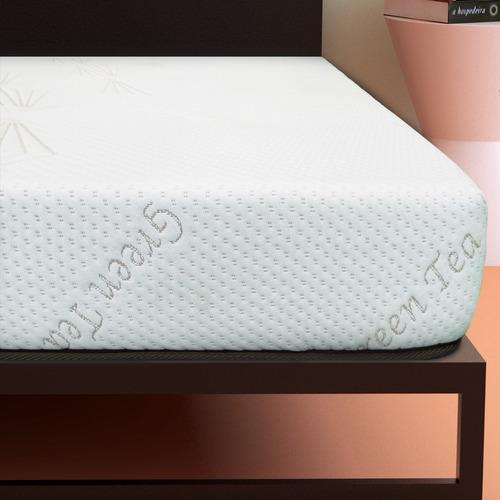colchón en caja individual dormez green tea memory foam gel