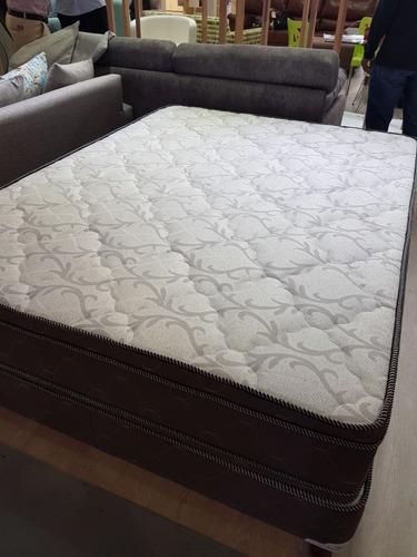 colchón espuma doble pillow europeo 2p novo.-