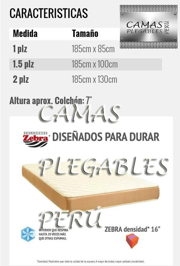 Colch n espuma zebra plaza y media 7 pulgadas nuevo s for Medida estandar de colchon de una plaza